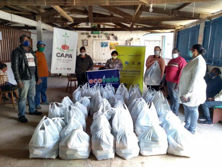 Cooperativa Ecovale e CAPA Santa Cruz realizam ação solidária e humanitária durante a pandemia da Covid-19