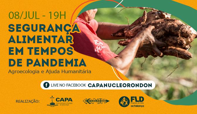 FLD-COMIN-CAPA promovem debate sobre segurança alimentar em tempos de pandemia